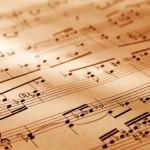 Sheet of musical symbol